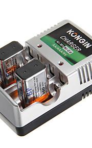 kongin acculader voor aa/aaa/9v/ni-mh/ni-cd met au-stekker (inbegrepen 2xbp9v300)