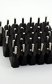 enchufes adaptadores de alimentación de CA universal de viaje de la UE (20 / pack 110v-240v)