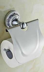 Ceramic Brass Chrome Finish Toilet Paper Holders