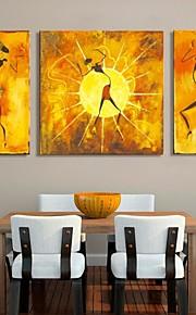 art de toile tendue personnes abstraites image décorative ensemble de trois