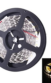double rangée 600x5050 SMD 144W 6000lm chaude lumière blanche lumière de bande de conduit (5 mètres 12v / cc)