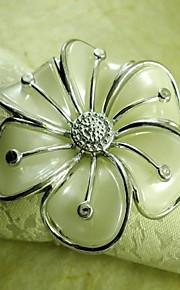 손으로 꽃 냅킨 링, 아크릴 beades, 세로 4.5cm, 12 세트