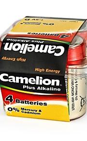 camelion plus alkaline d formaat batterij in plastic doos van 4 stuks