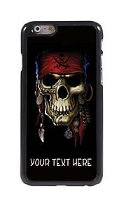 """מקרה אישי מקרה פיראט עיצוב גולגולת מתכת עבור iPhone 6 (4.7 """")"""