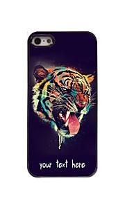 gepersonaliseerd geval het hoofd van de tijger ontwerp metalen behuizing voor de iPhone 5 / 5s