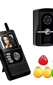 2.4inch draagbare LCD kleuren scherm met 6 id-kaarten gebruikt in home video doorphonepy-3424pj