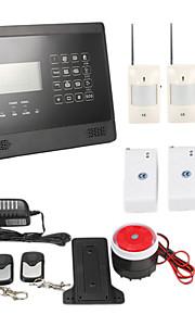 LCD hjem sikkerhed trådløs gsm sms autoopkald tyverialarm kit pet-immunitet pir