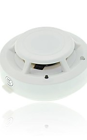Wireless Detector of Smoke Security Fire Alarm Sensor System Cordless White