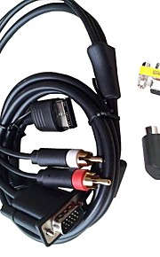 dc vga video kabel hd rca adapter japan NTSC ons pal voor de Sega Dreamcast console