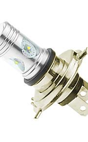 h4 P43t Cree XP-e conduit 20w 1300-1600lm 6500-7500k ac / DC12V-24 brouillard blanc - argent transparent