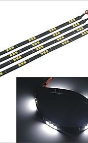 carking ™ 5050-15smd-30cm waterdichte auto decoratieve lamp strip-zwart (4 stuks)