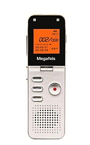 megafeis 8gb 50m lange afstand professionele digitale voice recorder / pcm mp3 / dsp / tijd-stempel / one key opname