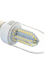 e27 6w 84x2835 smd 500lm 3000K varm hvit / hvit lys ledet klart deksel stearinlys bulb (ac 85-265v)