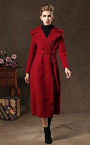 Women's Vintage Double-breasted Long Coat(with belt)