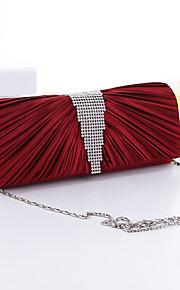 Women Silk Wedding Evening Bag Red