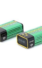 9v 300mah 6F22 batterij voor multimeter microfoonkabel testen meter 2 stuks