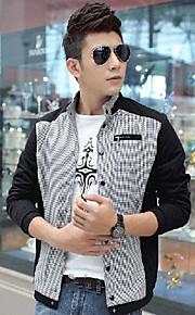 Men's Korean Style Bodycon Stand Collar Casual Outerwear