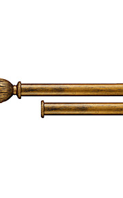 35mm Diameter Retro Classic Floral Head Gold Birch Double Rod