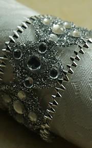 12 세트 실버 크리스탈 냅킨 링 많은 색상, 아크릴, 세로 4.5cm,