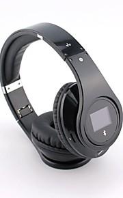 bq968 multifunción bluetooth 3.0 sobre el auricular del oído con la pantalla LCD para teléfonos inteligentes / pc