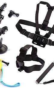 6pcs GoPro tilbehør Opsætning / Stropper / Tilbehør Kit / Håndgreb For Gopro Hero 2 / Gopro Hero 3 / Gopro Hero 3+ FlydendeUniversel /