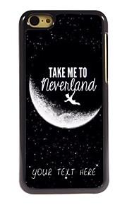 personlig telefon sag - tage mig til Neverland design metal tilfældet for iphone 5c