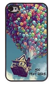 personlig telefon sag - ballon design metal tilfældet for iPhone 4 / 4S