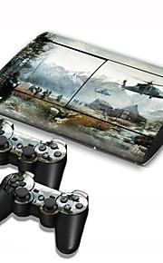 b-Skin® PS3 Slim 4000 konsoli suojaava tarra kattaa iho ohjain tarrakalvo