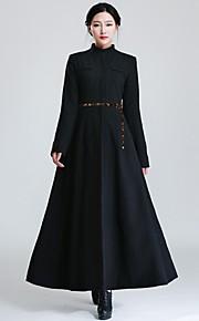 Incern®Women's Stand Collar Slim Long Woolen Coat