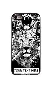 personlig telefon taske - løve design metal etui til iPhone 5 / 5s