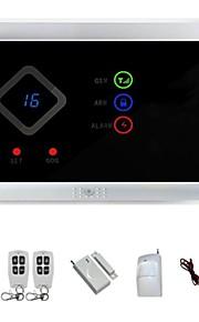 GSM trådløs hjem sikringssystem og alarm auto-dial og 99 trådløs zone