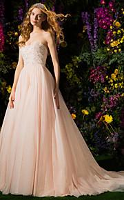 Lanting Bride® Robe de Soirée Petites Tailles Robe de Mariage  Colorées Traîne Tribunal Sans Bretelles Tulle avec