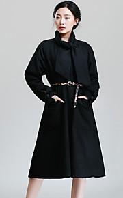 Incern®Women's Cloak Loose Thin Long Woolen Coat