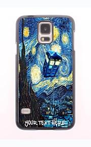 パーソナライズされた携帯電話のケース - サムスンギャラクシーS5 i9600用の家と木のデザインメタルケース