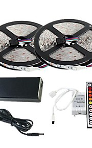 10m étanche 300x3528 RVB SMD LED bande de lumière et télécommande 44key et nous 6a alimentation (AC110-240V)