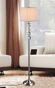luminária de piso eidehi® moderna decoração de cristal galvaniza de metal