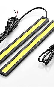 2pcs 17cm 6W 600-700LM Daytime Running light Yellow Color High Power COB DRL Waterproof IP68 Daylight(12V)