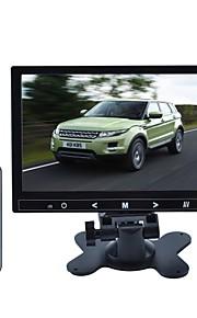 9 inch TFT LCD-auto stand / hoofdsteun druk op de knop-monitor - zwart