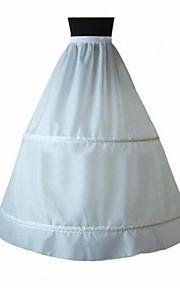 Déshabillés Robe trapèze Ras du Sol 1 Taffetas Blanc