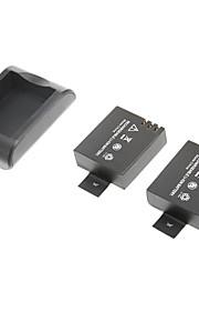 3.7V 900mAh Batteri af sjcam sj4000 wifi sport kamera med oplader (2 batterier + 1 oplader)