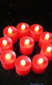 3-Sterne-AG13 Knopfbatterien neue Leucht führte Kerzenlampe (10 Stück)
