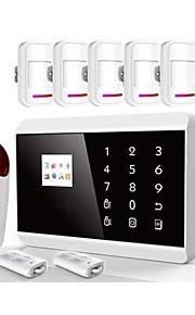 TFT-farvedisplay dobbelt netværk hjemme alarm Sikkerhedssystem ios&Android app