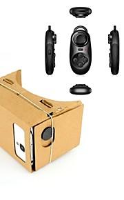 google karton diy virtual reality 3D-bril + multifunctionele bht controller voor iPhone / nexus 6&samsung telefoons