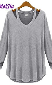Women's White/Black/Gray T-shirt Long Sleeve