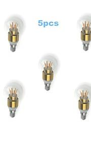 MORSEN Dekorativ Kugelbirnen A E14 4 W 350 LM 3000-3500 K 6 High Power LED Warmes Weiß AC 85-265 V