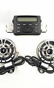 Motorcycle Geluid Audio Radio System stuur FM MP3 Stereo 2 Luidsprekers ATV Bike