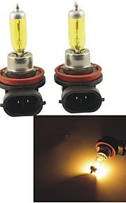 carking ™ Kobo h11 12v 100w 3000k 550lm geel licht auto halogeen koplamp (2 cps)