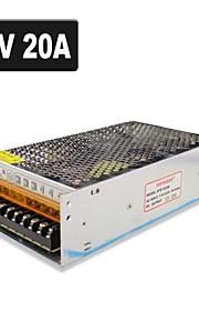 SPD-240W 12v20a CCTV tilbehør kamera systemets strømforsyning transformer metal - sølv (110-220V AC)