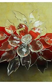 kristal bloem servetring, acryl, 4,5 cm, set van 12