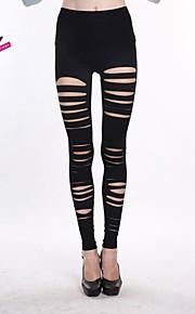 haoduoyi® Women's Elasticity Tight Slim Fitted Shredded Leggings
